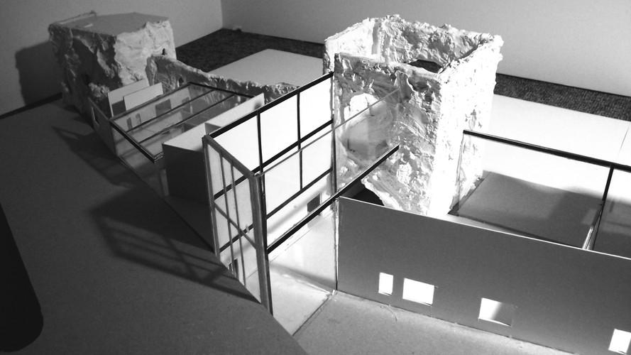 Architecture model for proposed artist workshop at Newport castle.