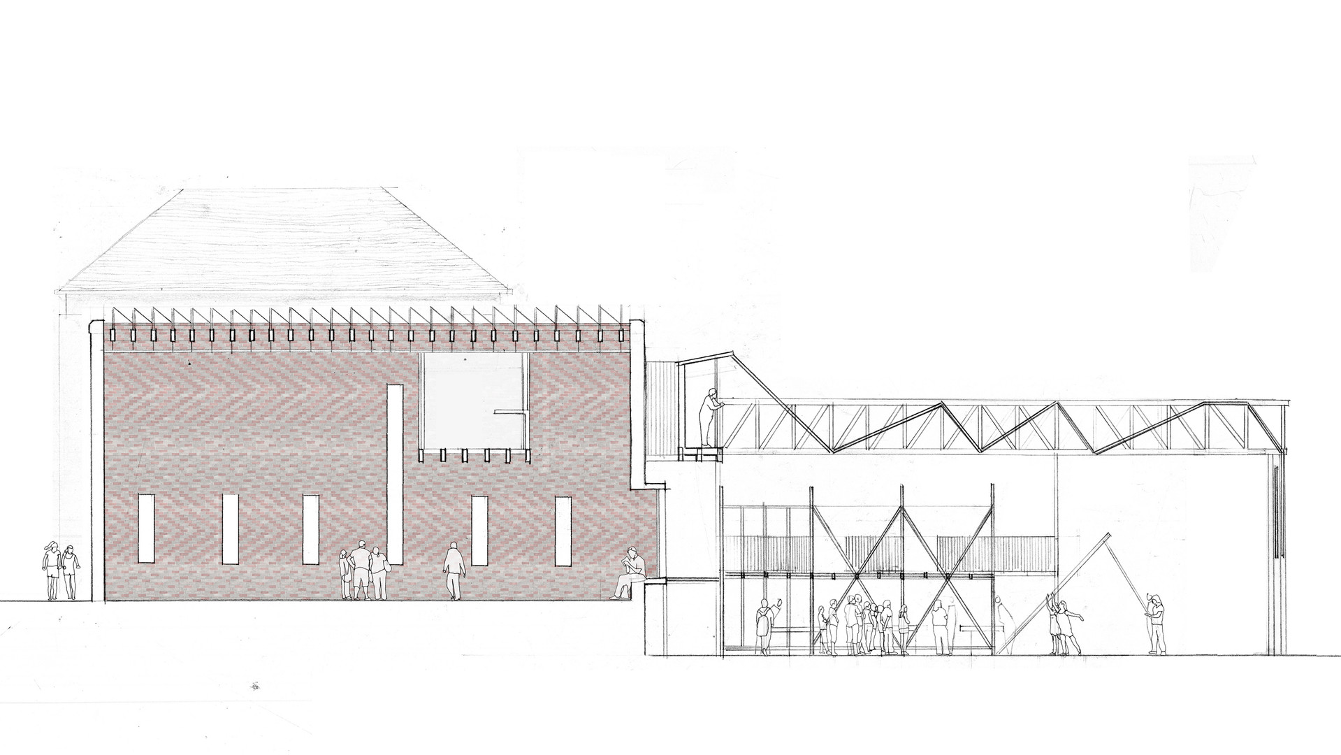 Architecture drawing for self-build training centre