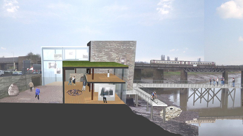 Architectural section for design project at Newport Castle.