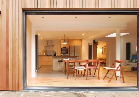 Timber framed extension in Bristol
