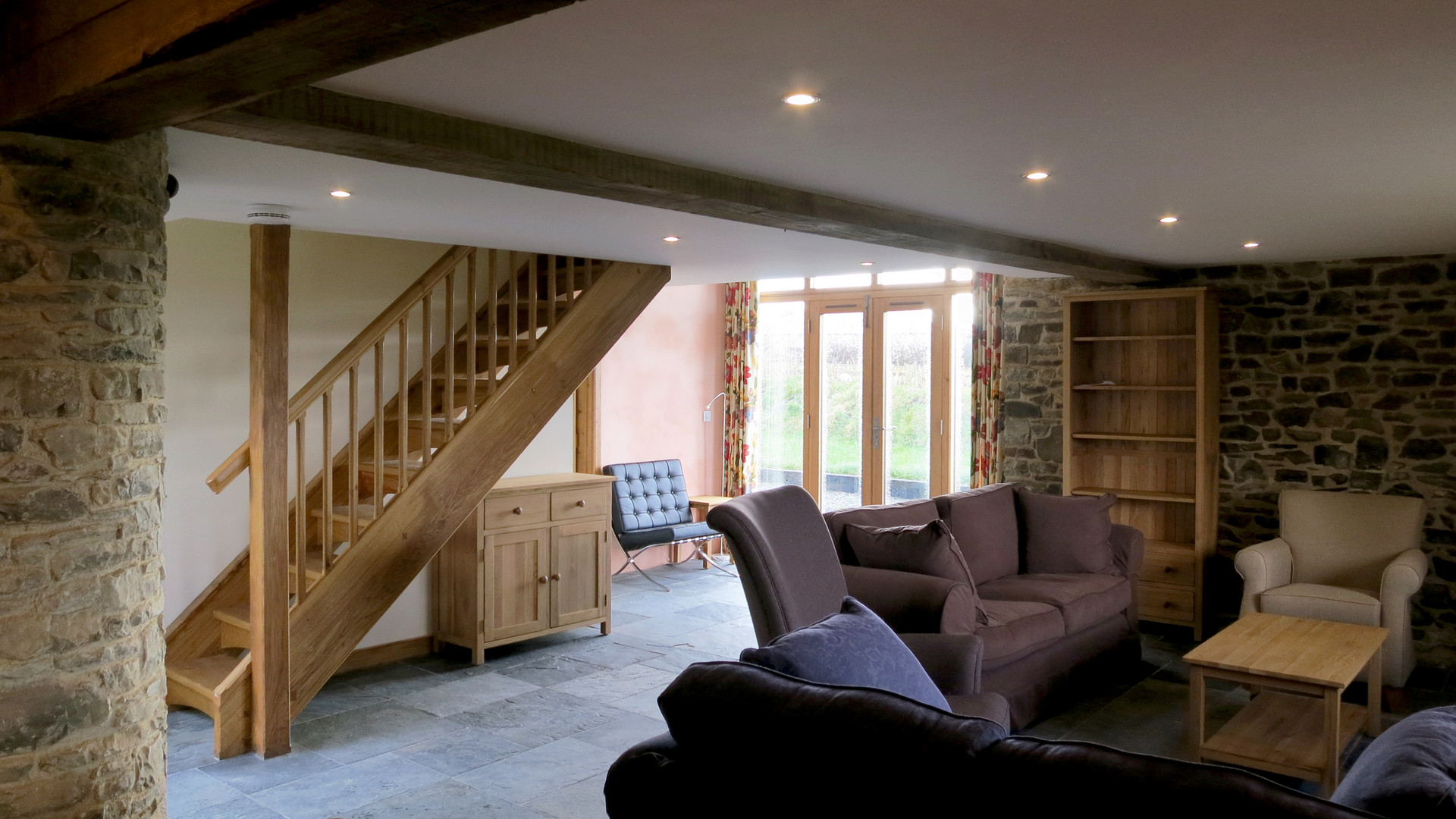 Interior architectural photo of barn conversion in Devon