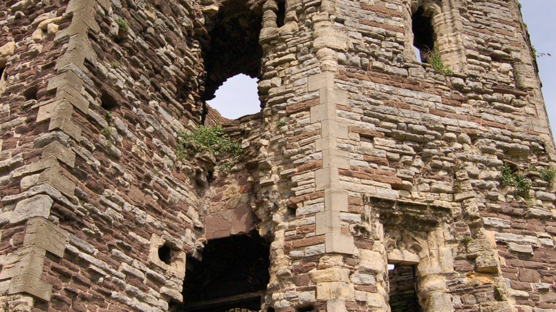Architectural project - site photo of Newport castle