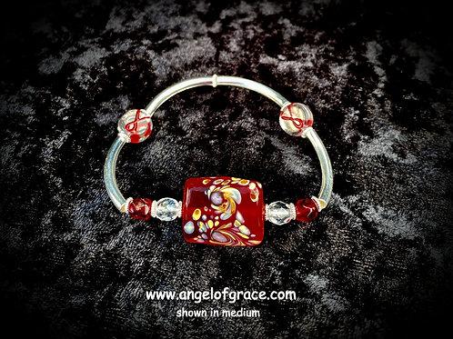 Burgundy Ribbon Awareness Bracelet