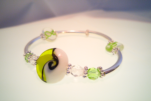 Green Ribbon Awareness Bracelet