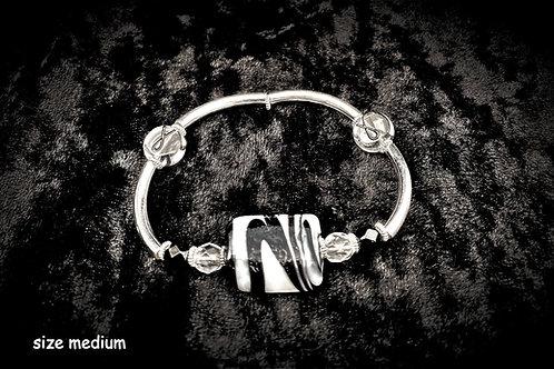 Black Ribbon Awareness Bracelet (Kathy's)