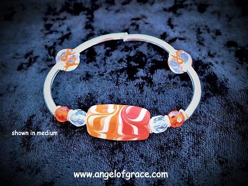 Orange Ribbon Awareness Bracelet