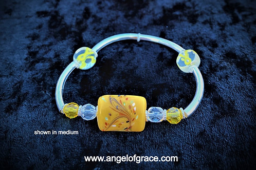 Yellow Ribbon Awareness Bracelet