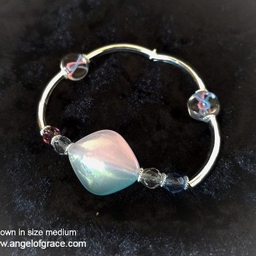 Pink/Blue Ribbon Awareness Bracelet