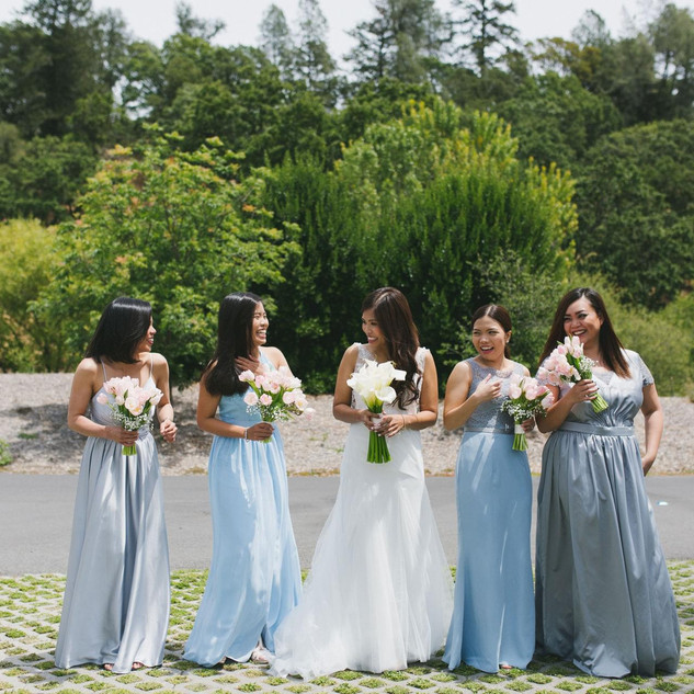 Gray Entourage Gown in Napa Valley 4
