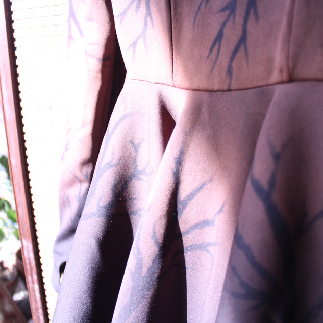 Couture Dress Neoprene Bleached Branches