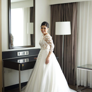 Junko in her Sakura inspired wedding gown