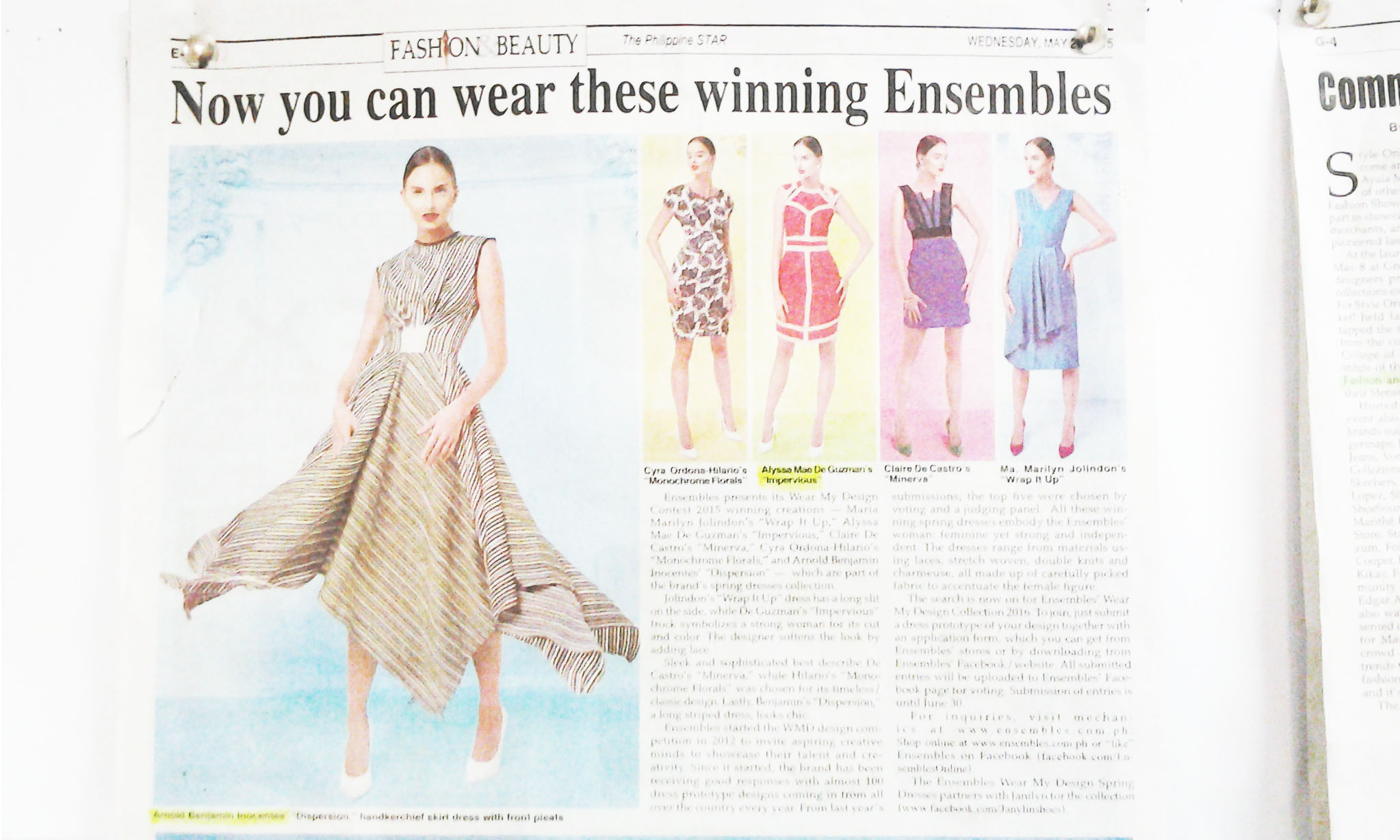 Wear my Design on Philippine Star