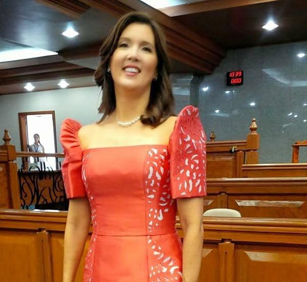 Pia Cayetano Filipiniana gown for SONA