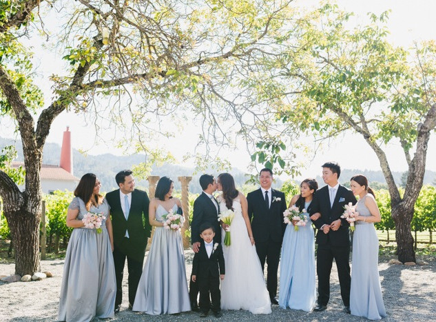 Gray Entourage Gown in Napa Valley 2