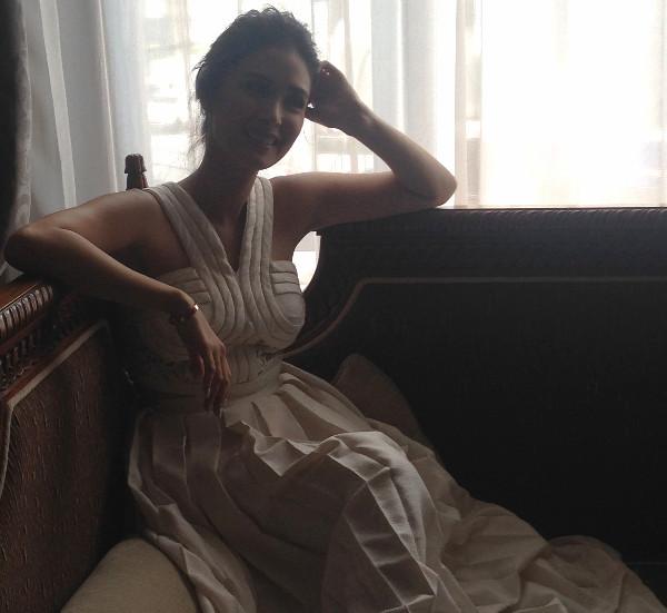 Heart Evangelista wearing a contemporary wedding gown