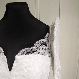 Bianca's White lace Filipiniana dress fr