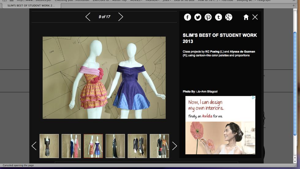 Alyssa de Guzman Couture, Alice dress featured on Stylebible.ph for the Slim's exhibit.