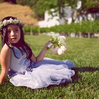 Gray Flower girl Gown in Napa Valley