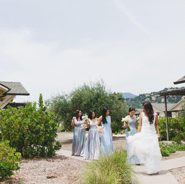Gray Entourage Gown in Napa Valley 3