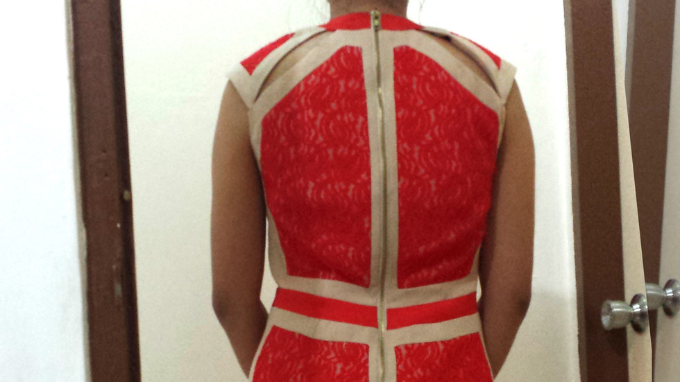 Ensembles Wear My Design Contest Year 3 Red Dress back.