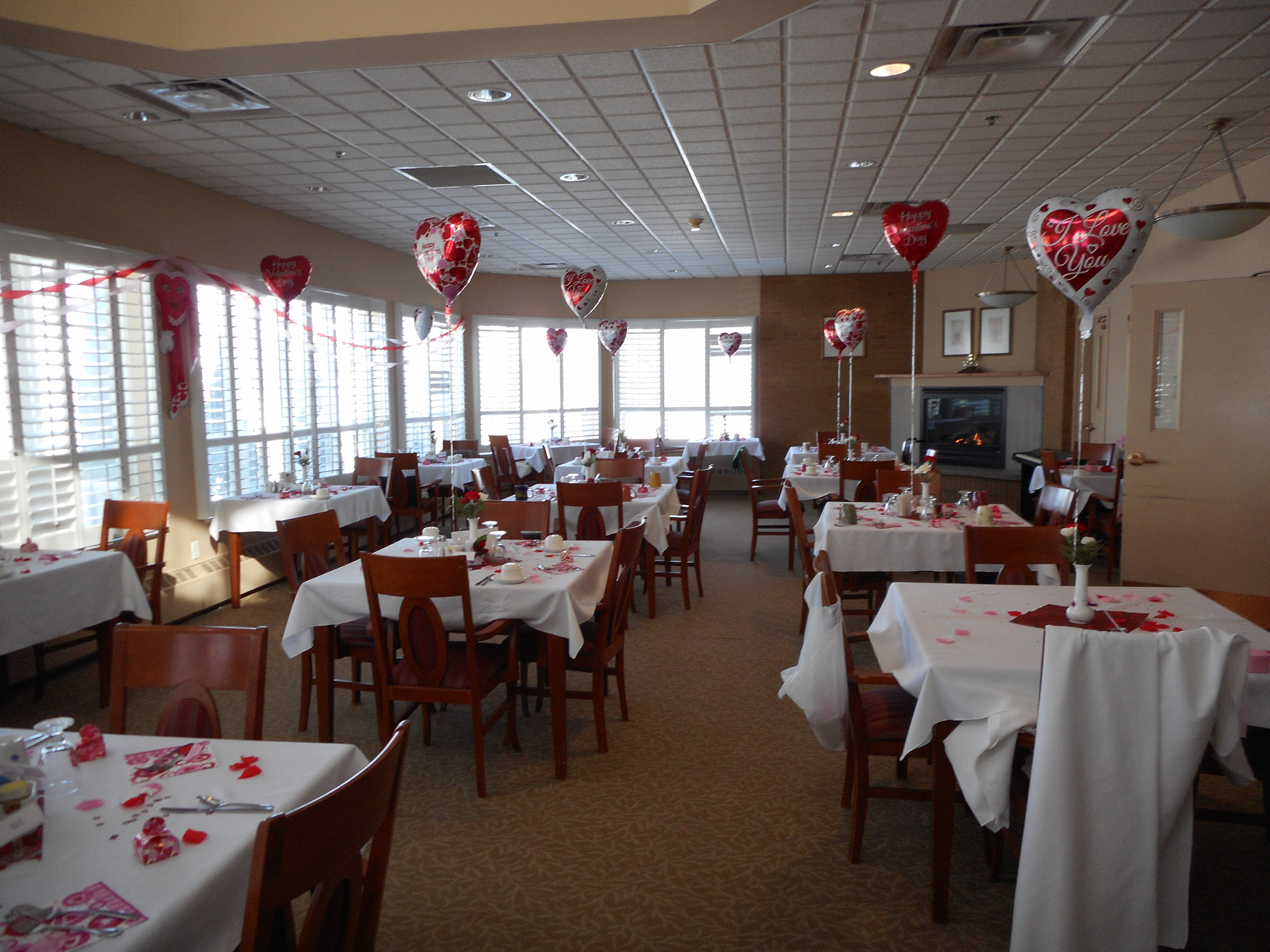 Dining Room on Valentine's Day