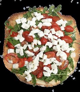 Piadina bread with mozzarella