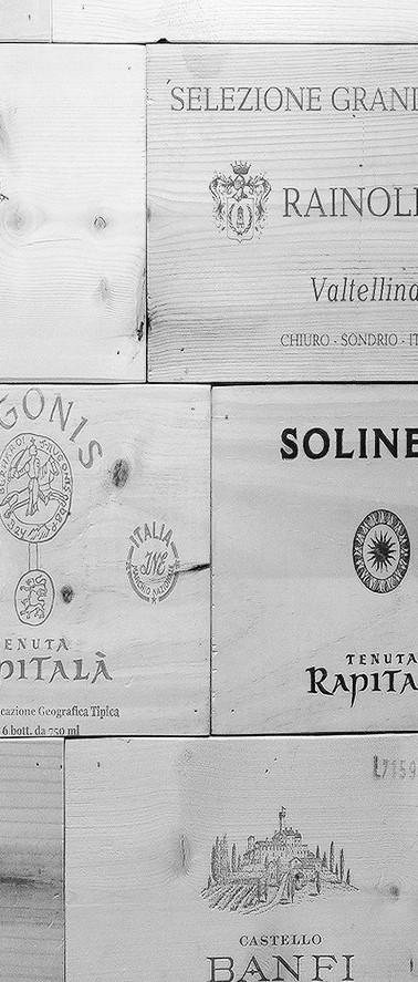 Wood wine cases walls
