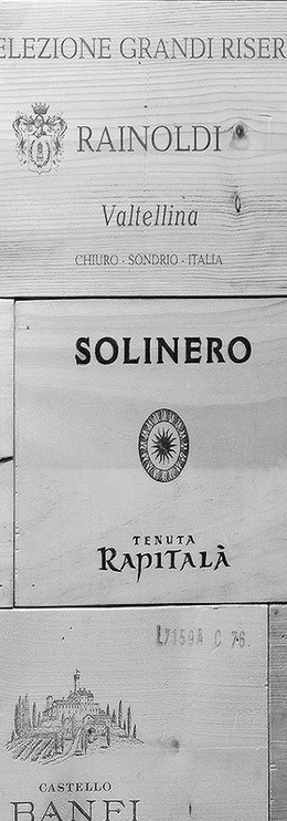 Wine wood panel