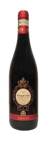 Amarone Santi's bottle