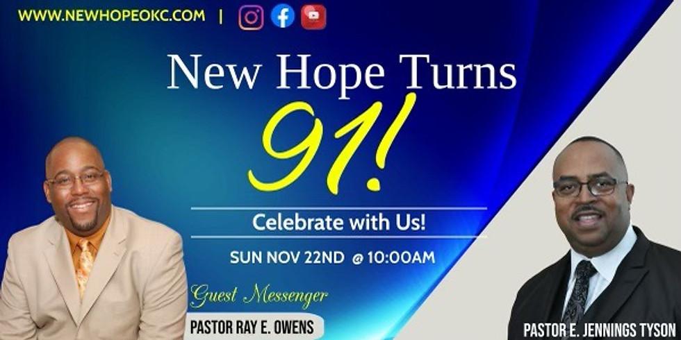New Hope 91st Church Anniversary