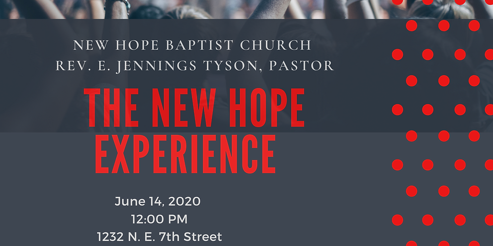 New Hope Experience - 12:00 PM