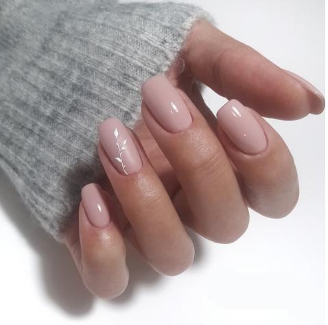 Unhas rosas manicure