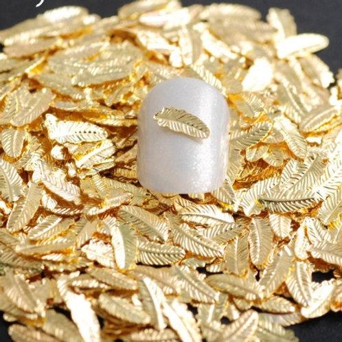 Pedrarias Pena de metal dourada 3D