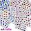 50 cartelas de adesivos para unhas art lalic