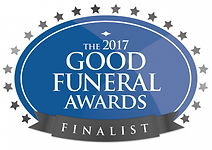 Logo for Rounce Funeral Services becoming a finalist in the 2017 Good Funeral Awards