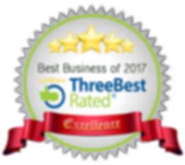 Best Business of 2017 - Three Best Rated Award of Excellence for Rounce Funeral Services