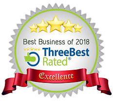 Best Business of 2018 - Three Best Rated Award of Excellence for Rounce Funeral Services