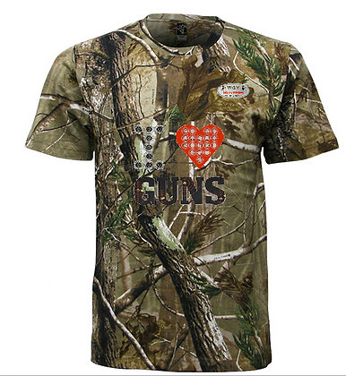 Camo I Love Guns Shirt