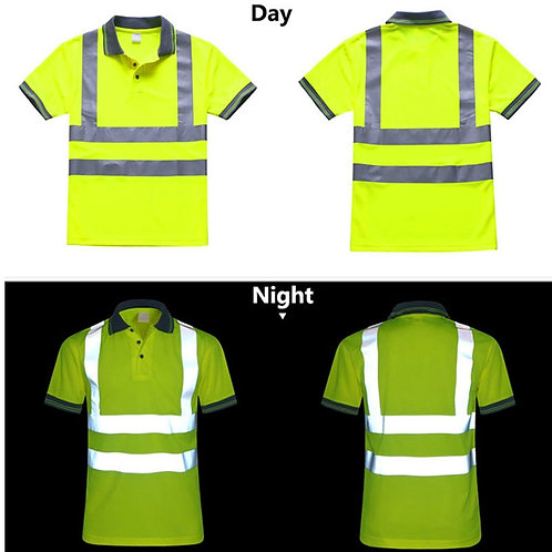 Night Work Reflective Safety Shirt-Quick Drying for Construction Workwear