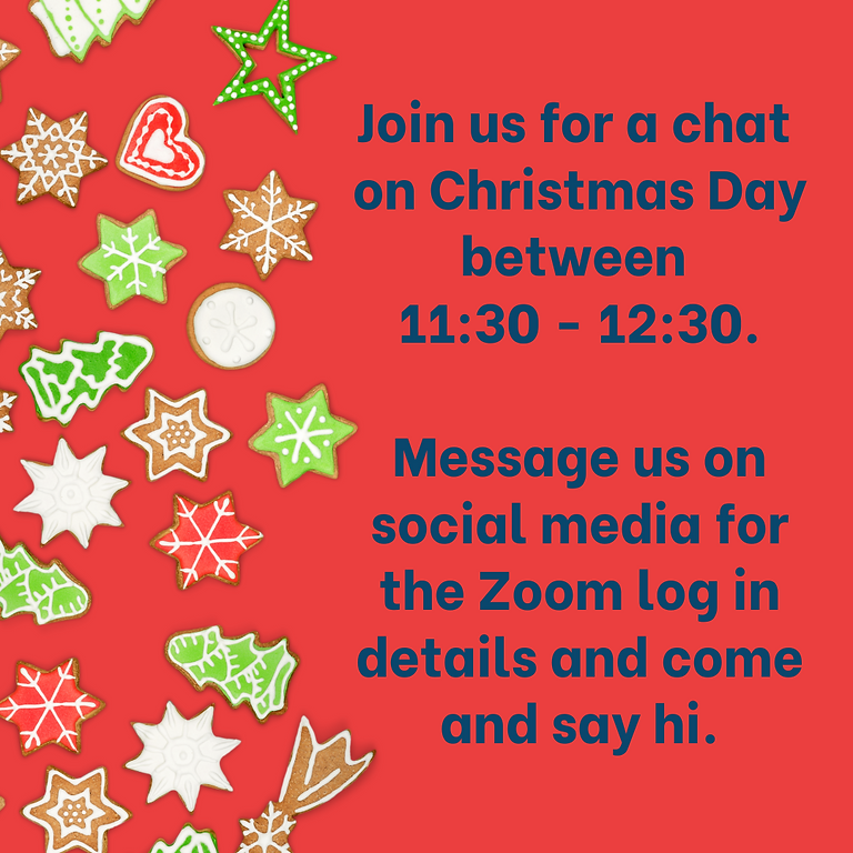 Christmas Day chat ~ 11:30 - 12:30