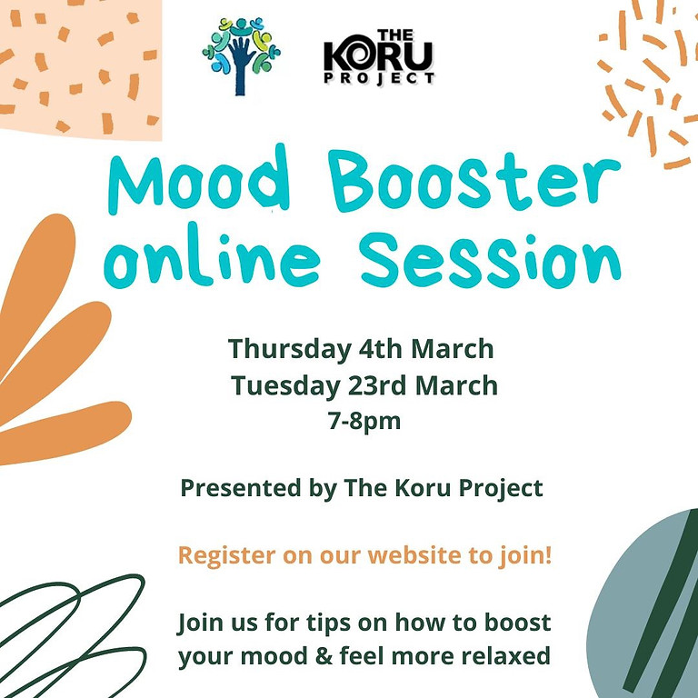 Mood Booster Workshop Thurs 4th