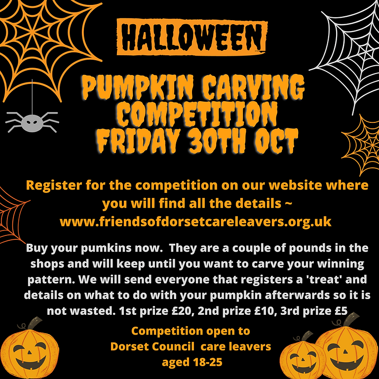 Pumpkin Carving Competition - 30th October - 12pm