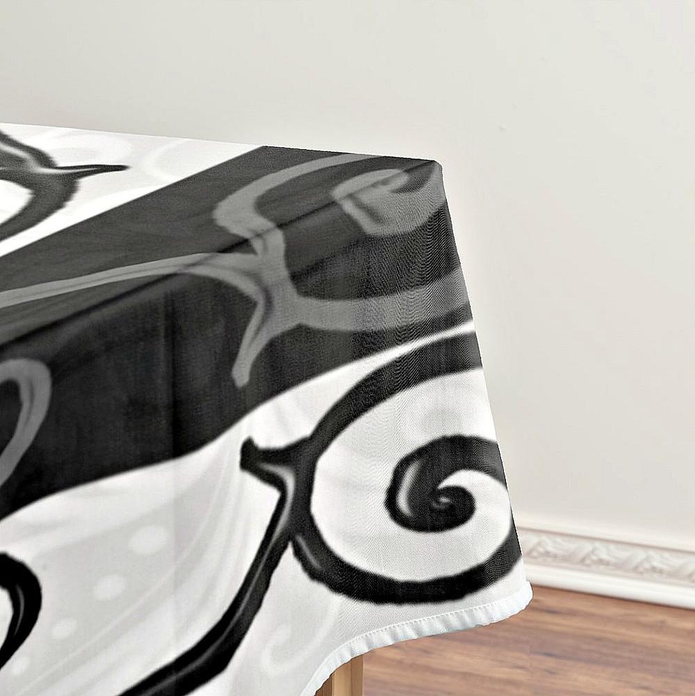 Burtonesque Stripes & Swirls Table Cloth