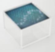acrylic box, square, clear, trinket box,