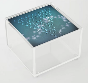 acrylic box, square, clear, trinket box,