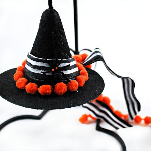 Gothic Holiday Ornament - Witch Hat - Itsy Bitsy Spider