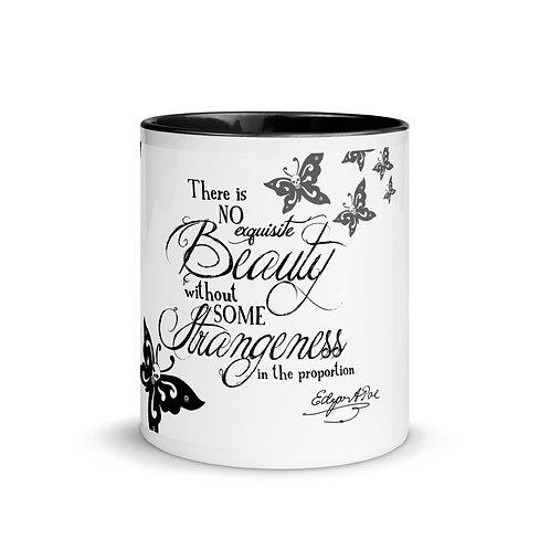 Mug with Color Inside - 'Beauty' E.A. Poe