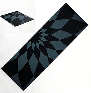 Yoga mat, pendulum, black, purple, outdo