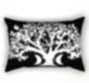 rectangle throw pillow, zen den tree, bl