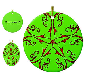 Personalize Holiday Porcelain Ornaments